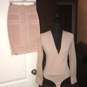 Bebe two piece blush outfit Size S